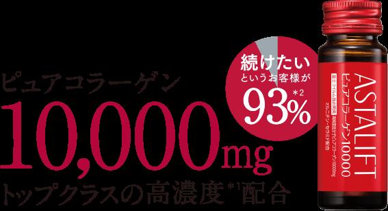 ピュアコラーゲン10,000mg トップクラスの高濃度*1配合